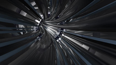 Tunnel tube metal A 01b HD Animation