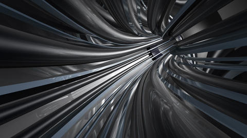Tunnel tube metal A 01b HD Stock Video Footage