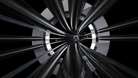 Tunnel tube metal A 01g HD Stock Video Footage
