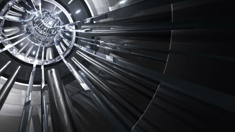 Tunnel tube metal A 02e 2 HD Stock Video Footage