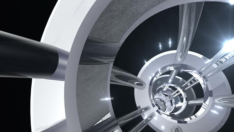 Tunnel tube metal A 02j 2 HD CG動画