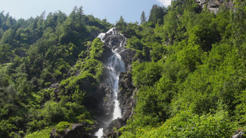 Waterfall in Austrian Alps Footage