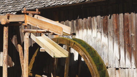 Watermill wheel Stock Video Footage
