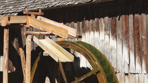 Watermill wheel Footage