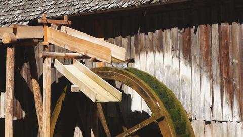 Watermill wheel Footage