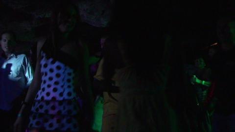 Cuba Dancing in disco Stock Video Footage