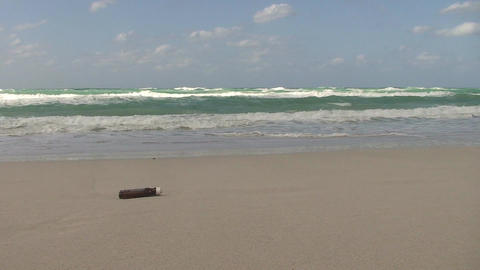 Cuba Message in a bottle at the sea 4 Stock Video Footage