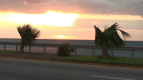 Cuba Sunrise street with cars 3 Stock Video Footage