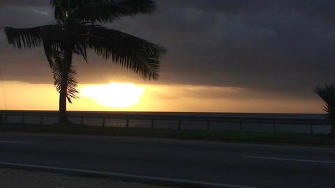 Cuba Sunrise street with cars 9 Stock Video Footage