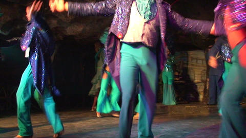 Cuba Varadero Cabaret Cueva del Pirata 3 No Sound Stock Video Footage