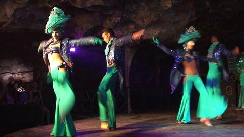 Cuba Varadero Cabaret Cueva del Pirata 3 No Sound Stock Video Footage