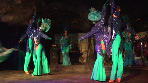 Cuba Varadero Cabaret Cueva del Pirata 5 No Sound Stock Video Footage