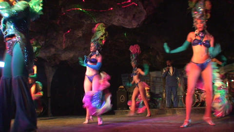 Cuba Varadero Cabaret Cueva del Pirata 7 Stock Video Footage