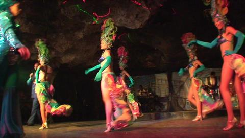 Cuba Varadero Cabaret Cueva del Pirata 7 Stock Video Footage
