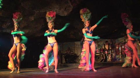 Cuba Varadero Cabaret Cueva del Pirata 9 Stock Video Footage