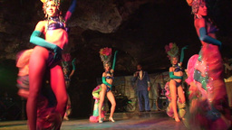 Cuba Varadero Cabaret Cueva del Pirata 9 Stock Video Footage
