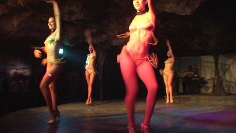 Cuba Varadero Cabaret Cueva del Pirata 11 Stock Video Footage