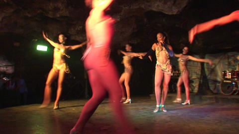 Cuba Varadero Cabaret Cueva del Pirata 11 Stock Video Footage