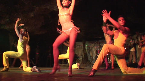 Cuba Varadero Cabaret Cueva del Pirata 13 Stock Video Footage