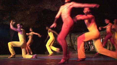 Cuba Varadero Cabaret Cueva del Pirata 13 Stock Video Footage