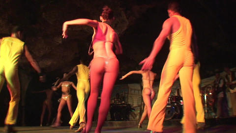 Cuba Varadero Cabaret Cueva del Pirata 15 Stock Video Footage