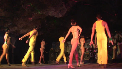 Cuba Varadero Cabaret Cueva del Pirata 15 Stock Video Footage