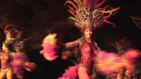 Cuba Varadero Cabaret Cueva del Pirata 17 Stock Video Footage
