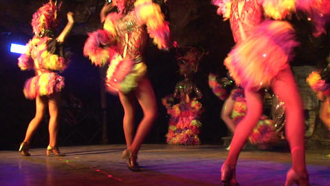 Cuba Varadero Cabaret Cueva del Pirata 19 Stock Video Footage