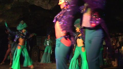 Cuba Varadero Cabaret Cueva del Pirata No Sound Stock Video Footage
