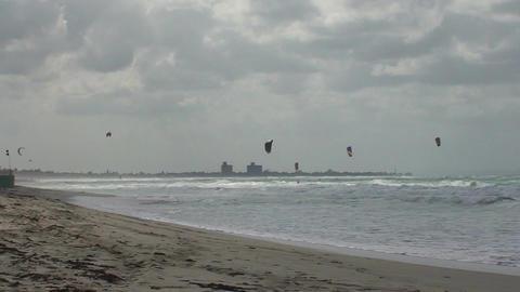 Varadero Kitesurfing Stock Video Footage