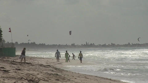 Varadero Kitesurfing 3 Stock Video Footage