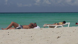 Varadero man and women at the beach child playing Footage