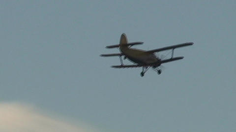 Varadero old airplane in the sky sunset Stock Video Footage