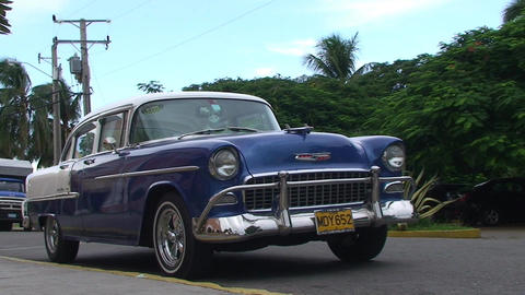 Varadero oldtimer on the street 3 Footage