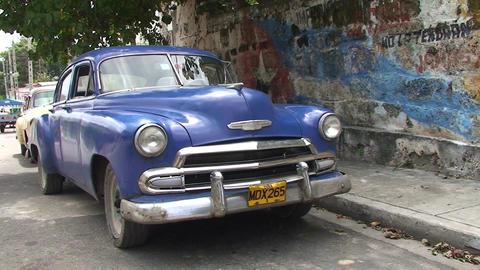 Varadero oldtimer on the street 5 Stock Video Footage