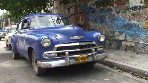 Varadero oldtimer on the street 5 Footage