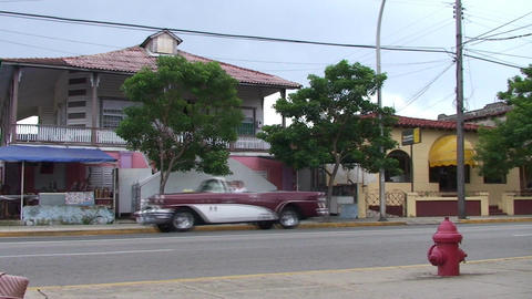 Varadero oldtimers passing by on the street 3 Stock Video Footage