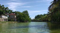 Varadero park with pond and bridge Footage