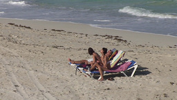 Varadero relaxing at the beach 3 Footage