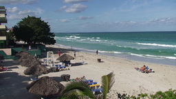 Varadero relaxing at the beach 5 Footage