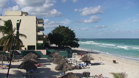 Varadero relaxing at the beach 7 Stock Video Footage