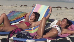 Varadero relaxing at the beach 9 Stock Video Footage