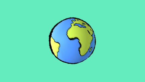 earth line with green background Stock Video Footage