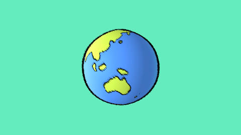 earth line with green background Animation
