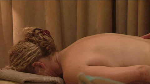 Massage with hands by a woman Stock Video Footage
