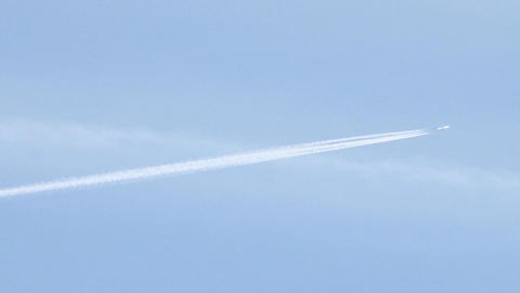Plane At Blue Sky stock footage