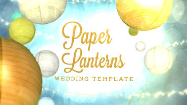 Paper Lanterns Template After Effects Template