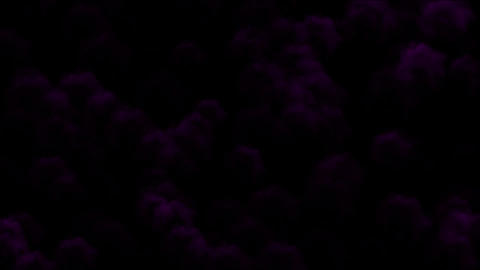 Nuclear smoke & purple cloud in darkness,military... Stock Video Footage