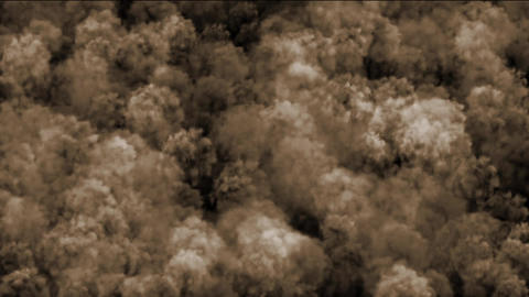 Nuclear smoke & cloud in darkness,military explosives... Stock Video Footage