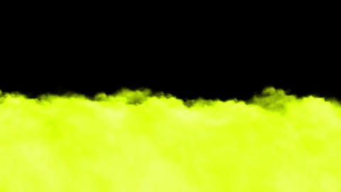Running yellow clouds and smoke Stock Video Footage
